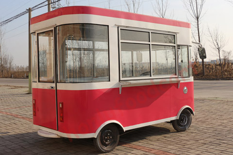 High quality steamed corn catering hot dog cartdesserts food trailer mobile van with crepes and waffles